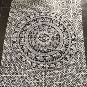 Black and White Large Tapestry